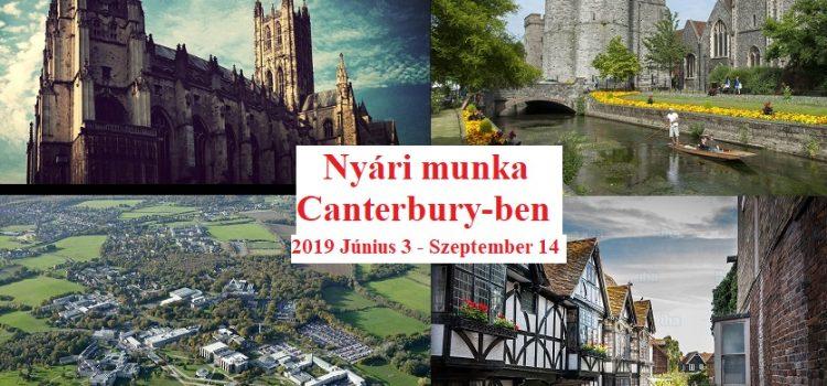 Szezonális munka Canterbury-ben Június 1. és Szeptember 14. között